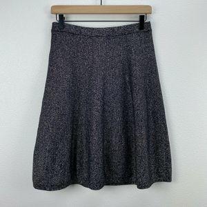 Nanette Lepore Skirts - Nanette Lepore Black Gold Metallic A-Line Skirt